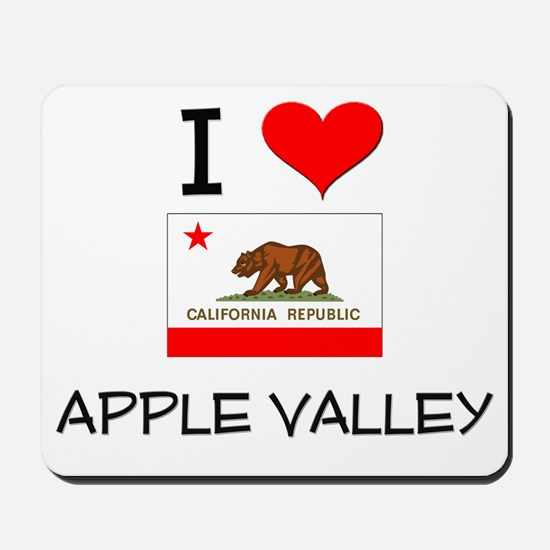 I Love Apple Valley California Mousepad