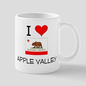 I Love Apple Valley California Mugs