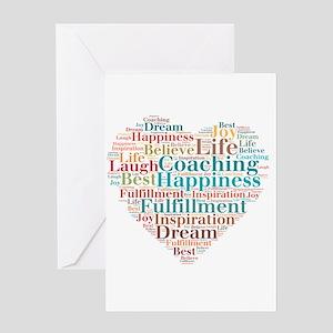 Coaching Wordart Greeting Cards
