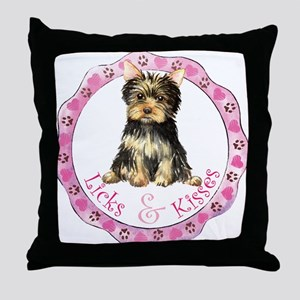Yorkie Valentine Throw Pillow