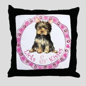 Yorkie Valentine Throw Pillow