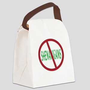 No Shenanigans Symbol Canvas Lunch Bag