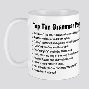 Grammar Peeves Mug