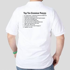 Grammar Peeves Golf Shirt