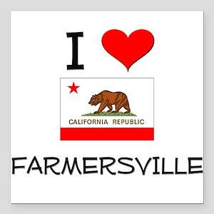 I Love Farmersville California Square Car Magnet 3