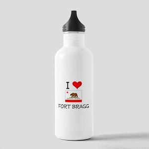 I Love Fort Bragg California Water Bottle
