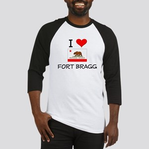 I Love Fort Bragg California Baseball Jersey