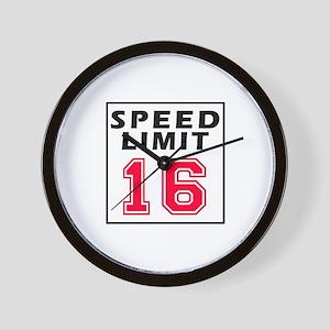 Speed Limit 16 Wall Clock