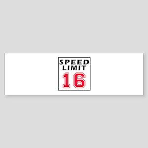 Speed Limit 16 Sticker (Bumper)