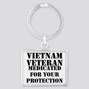 Vietnam Veteran Medicated For Y Landscape Keychain