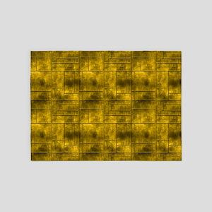 Industrial Golden Metal 5'x7'Area Rug