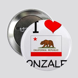 """I Love Gonzales California 2.25"""" Button"""