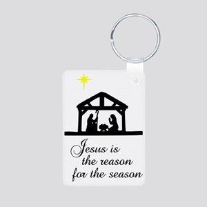 Jesus Is The Reason Nativi Aluminum Photo Keychain