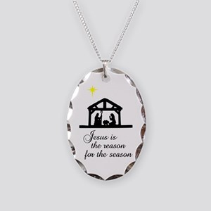 Jesus Is The Reason Nativity S Necklace Oval Charm