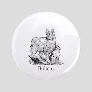 """Bobcat (line art) 3.5"""" Button"""