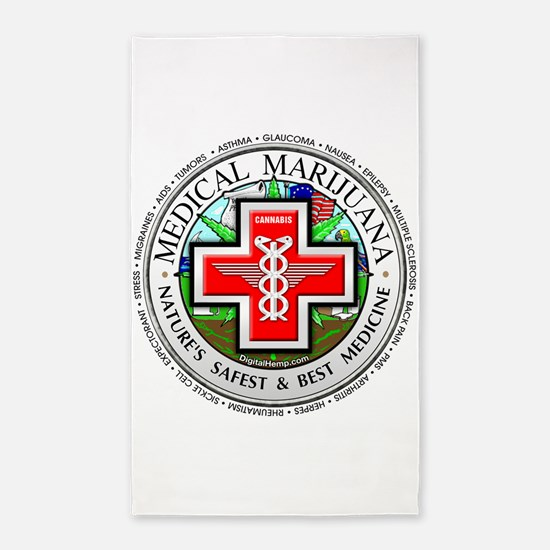 Medical Marijuana logo 3'x5' Area Rug