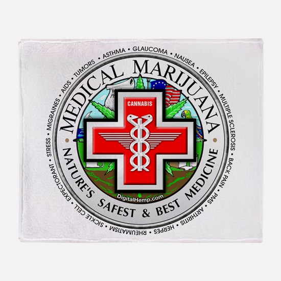 Medical Marijuana logo Throw Blanket