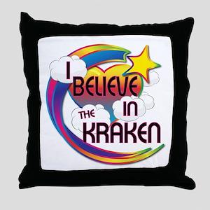 I Believe In The Kraken Cute Believer Design Throw