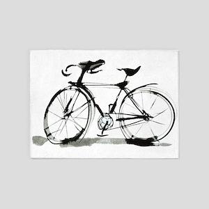 Bicycle 5'x7'Area Rug