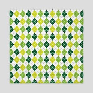 Green Argyle Pattern Queen Duvet