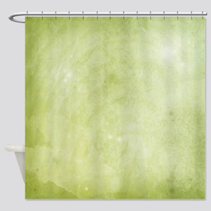 Green Watercolor Shower Curtain