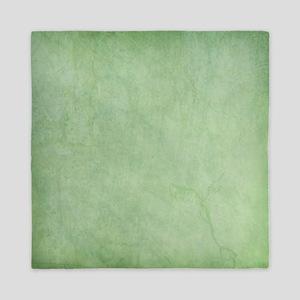 Green Watercolor Queen Duvet