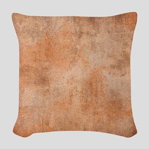 Brown Watercolor Woven Throw Pillow