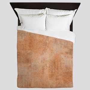 Brown Watercolor Queen Duvet