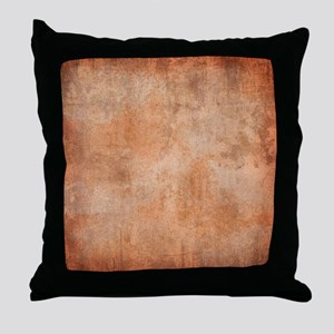 Brown Watercolor Throw Pillow