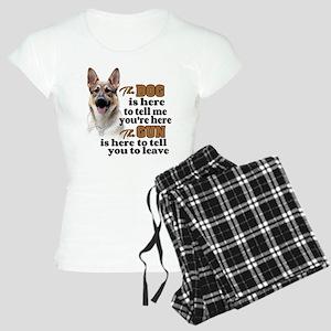 Beware of Dog/Gun (German S Women's Light Pajamas