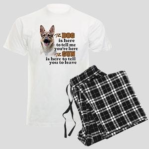 Beware of Dog/Gun (German She Men's Light Pajamas