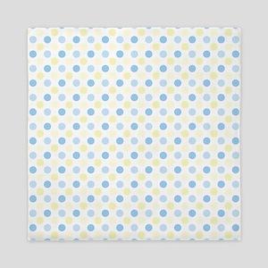 Blue Polka Dots Queen Duvet