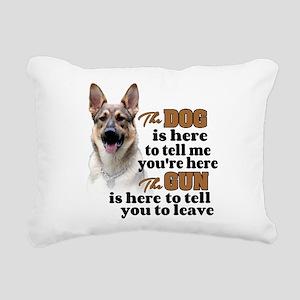 Beware of Dog/Gun (Germa Rectangular Canvas Pillow