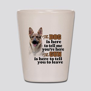 Beware of Dog/Gun (German Shepherd) Shot Glass