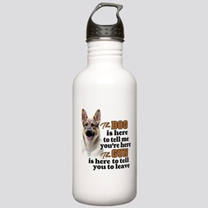 Beware of Dog/Gun (Ger Stainless Water Bottle 1.0L