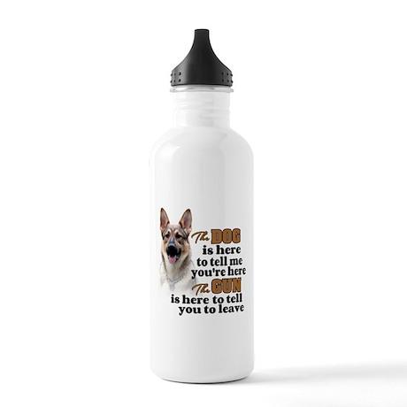 Beware of Dog/Gun (Ger Stainless Water Bottle 1.0L