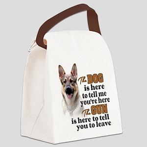 Beware of Dog/Gun (German Shepher Canvas Lunch Bag