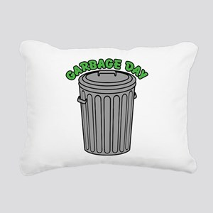 Garbage Day Trash Can Rectangular Canvas Pillow