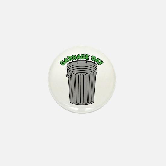 Garbage Day Trash Can Mini Button