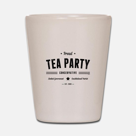 Tea Party Conservative Shot Glass