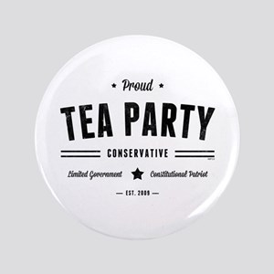 "Tea Party Conservative 3.5"" Button"