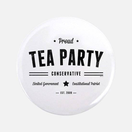 "Tea Party Conservative 3.5"" Button"