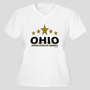 Ohio U.S.A. Women's Plus Size V-Neck T-Shirt