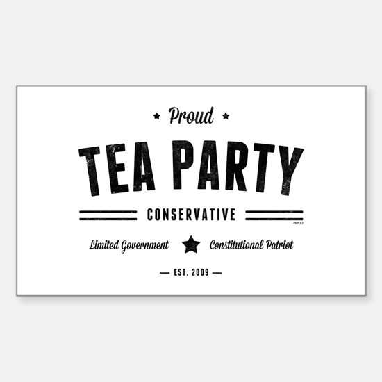 Tea Party Conservative Decal