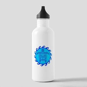 Blue Maori Turtle Water Bottle