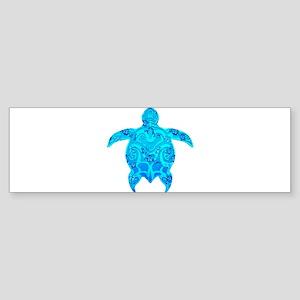 Tribal Honu Hibiscus Bumper Sticker