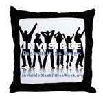 Invisible Disabilities Week Throw Pillow