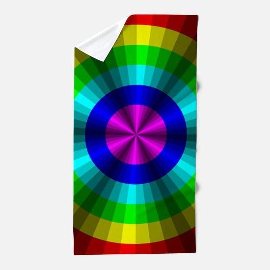 Rainbow Illusion Beach Towel