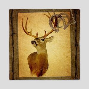 western country deer Queen Duvet