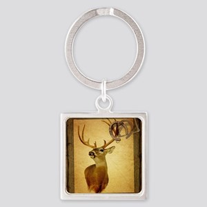 western country deer Square Keychain